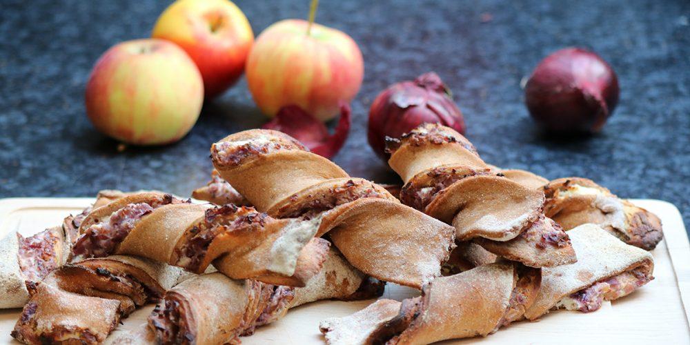 Apfel-Zwiebel-Spirale
