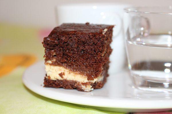 Brownies mit Frischkäse-Füllung